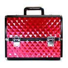 Алюминиевый кейс для косметики - CaseLife A-255 Красный Ромб Глянцевый